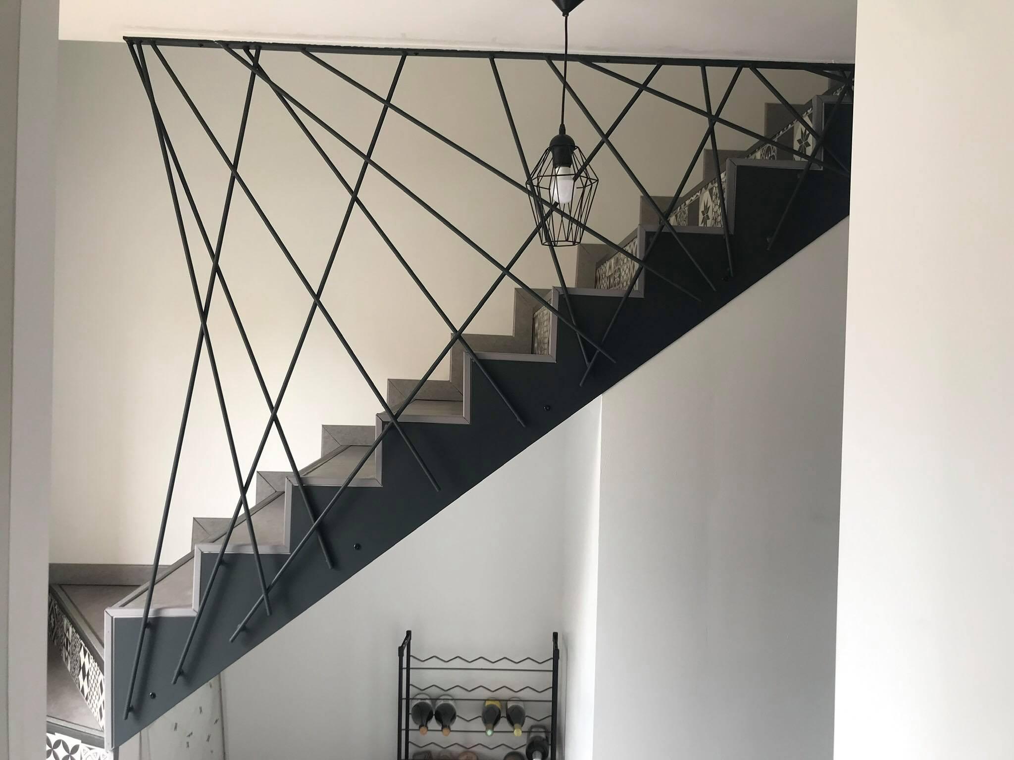rambarde escalier métal